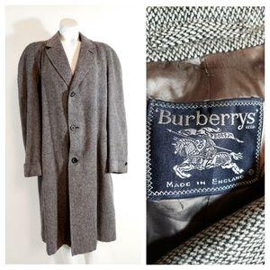 🦋 Vintage Burberry 50s wool tweed coat boyfriend